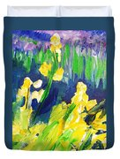 Impression Flowers Duvet Cover