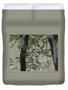 Impression Of Wall And Trees Duvet Cover