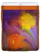 Impressionistic Flowers Duvet Cover
