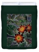 Impressionistic Lilies Duvet Cover
