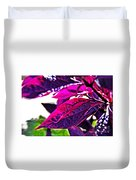Impressionistic Purple Leaves Duvet Cover
