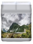 Impressive Weather Conditions At Milford Sound Duvet Cover
