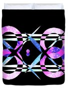I Took A Retrofuturistic Journey In Space In 1920 Duvet Cover by Bee-Bee Deigner