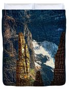 In A High Place Impasto Duvet Cover