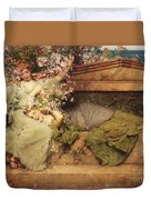 In A Rose Garden Duvet Cover by Sir Lawrence Alma-Tadema