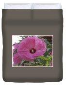 In Bloom - Pink Hibiscus Duvet Cover