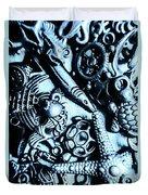 In Blue Nautilus  Duvet Cover