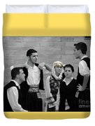 In Greek Discussion Duvet Cover