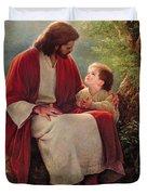 In His Light Duvet Cover