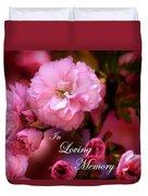 In Loving Memory Spring Pink Cherry Blossoms Duvet Cover