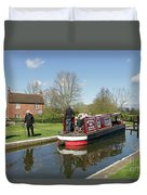 In Papercourt Lock On The Wey Navigations Duvet Cover