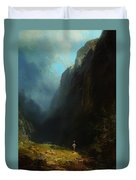 In The Alpine High Valley Duvet Cover