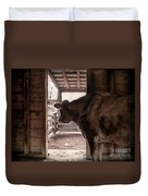 In The Barn Duvet Cover