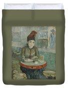In The Cafe  Agostina Segatori In Le Tambourin Paris January  March 1887 Vincent Van Gogh 1853  Duvet Cover