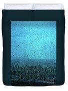 In The Dark Blue Rain Duvet Cover