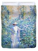 In The Flower Garden 1900 Duvet Cover