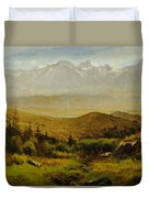 In The Foothills Of The Rockies Duvet Cover by Albert Bierstadt