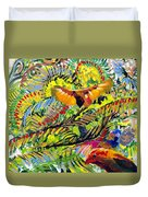 Birds In The Forest Duvet Cover