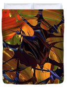 In The Forward Mind Abstract Duvet Cover