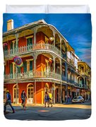 In The French Quarter - 2 Paint Duvet Cover