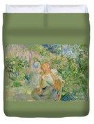 In The Garden At Roche Plate Duvet Cover by Berthe Morisot