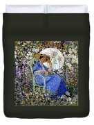 In The Garden Duvet Cover by Frederick Carl Frieseke