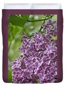 In The Garden. Lilac Duvet Cover