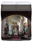 In The Gothic-baroque Church Duvet Cover