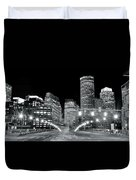 In The Heart Of A Black And White Town Duvet Cover