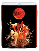 In The Heat Of The Night 2 Honeysuckle Red Moon Duvet Cover