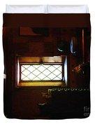 In The Lattice-windowed Attic Duvet Cover