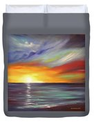 In The Moment Square Sunset Duvet Cover