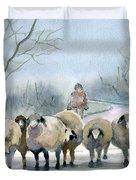 In The Morning Mist Duvet Cover