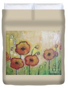 Poppies At Dusk Duvet Cover