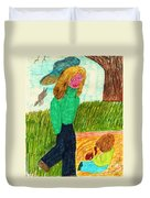 In The Park Duvet Cover