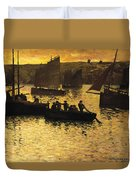In The Port Duvet Cover by Charles Cottet