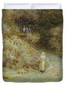 In The Primrose Wood Duvet Cover by Helen Allingham