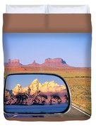 In The Rear View Mirror Duvet Cover