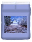 In The Snowy Forest Duvet Cover
