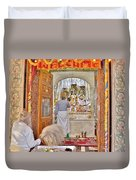 In The Temple Door Duvet Cover