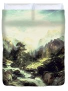 In The Teton Range Duvet Cover