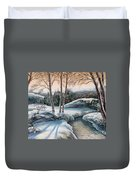 In The Winter In Carpathians.  Duvet Cover