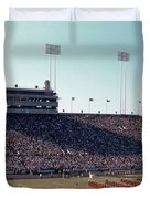 In This Vintage 1955 Photo The University Of Texas Longhorn Band Duvet Cover