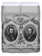In Union Is Strength - Ulysses S. Grant And Schuyler Colfax Duvet Cover