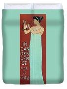 Incandescence Par Le Gaz  1892 Duvet Cover