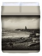 Incoming Fog On The Coquille Duvet Cover