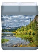 Incoming Storm At Twin Lakes Duvet Cover