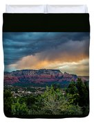 Incoming Storm Over Sedona Duvet Cover