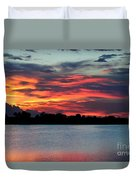 Incredible Red Sky  Duvet Cover