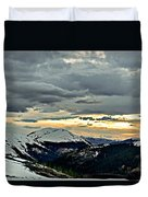Independence Pass Sunset Duvet Cover